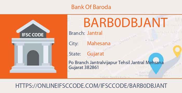 Bank Of Baroda Jantral Panch Mahals IFSC Code