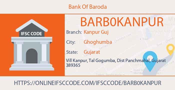 Bank Of Baroda Kanpur Guj Panch Mahals IFSC Code