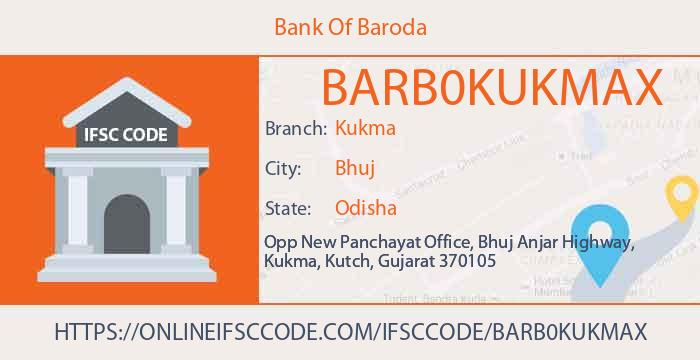 Bank Of Baroda Kukma IFSC Code