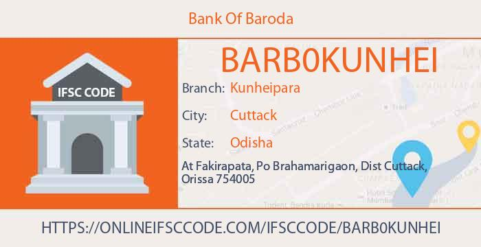 Bank Of Baroda Kunheipara Cuttack IFSC Code